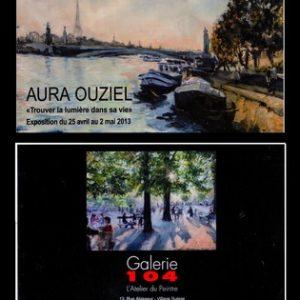 הזמנה לתערוכה גלריה 104 פריז